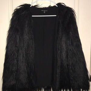 Urban Outfitters Black Fur coat